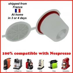 5 capsules rechargeables compatibles Nespresso dosettes réutilisables
