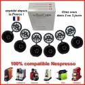 boite 6 capsules économiques rechargeables compatibles Nespresso noires