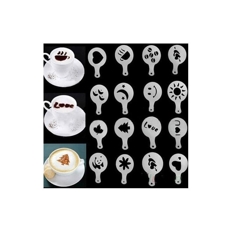 16 pochoirs décor café