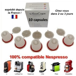 10 capsules Nespresso rechargeables