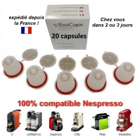 20 capsules rechargeables Nespresso