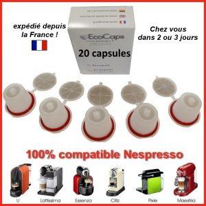 capsules rechargeables pour cafetière Nespresso