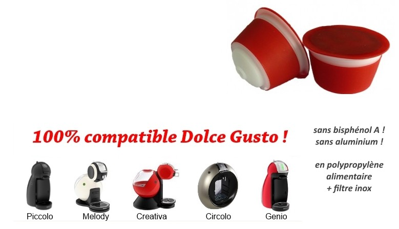 dosette rechargeable Dolce Gusto